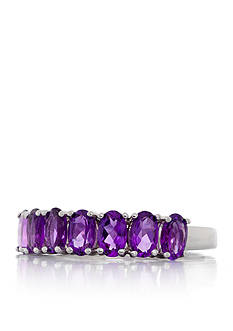 Belk & Co. Amethyst Band Ring in Sterling Silver