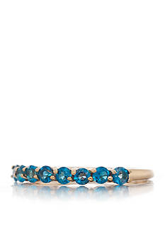 Belk & Co. Blue Topaz Band in 14k Yellow Gold