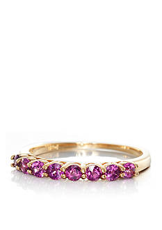 Belk & Co. Rhodolite Garnet Ring in 14k Yellow Gold