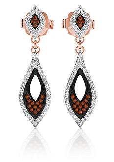 Belk & Co. 1/3 ct. t.w. Diamond Pave Drop Earrings in 10k Rose Gold