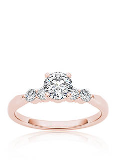 Belk & Co. 1/2 ct. t.w. Diamond Engagement Ring in 14k Rose Gold