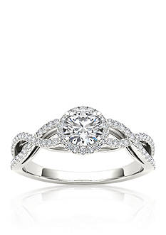 Belk & Co. 3/4 ct. t.w. Halo Diamond Engagement Ring in 14k White Gold