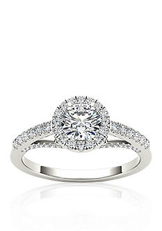 Belk & Co. 3/4 ct.t.w. Halo Diamond Engagement Ring in 14k White Gold