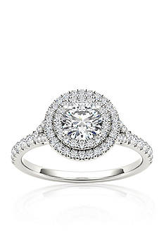 Belk & Co. 1 ct. t.w. Double Halo Diamond Engagement Ring in 14k White Gold