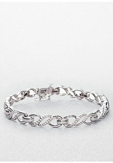 Belk & Co. Sterling Silver Diamond Bracelet<br>