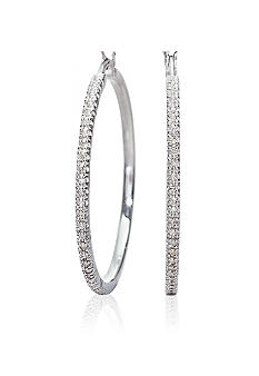Belk & Co. Sterling Silver Diamond Hoop Earrings