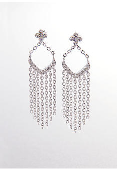 Belk & Co. Diamond Tassel Earrings in Sterling Silver