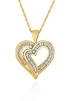 Belk & Co. Diamond Heart Pendant in 10k Yellow Gold