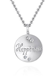 Belk & Co. Diamond Happiness Pendant in Sterling Silver