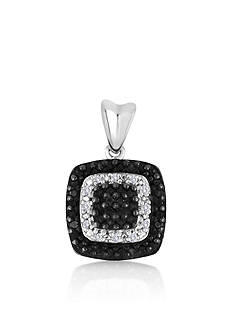 Belk & Co. Black and White Diamond Pendant in Sterling Silver