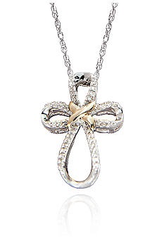 Belk & Co. Diamond Cross Pendant in Sterling Silver