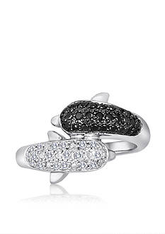 Belk & Co. Diamond Dolphin Ring in Sterling Silver