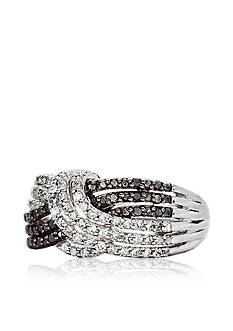 Belk & Co. Sterling Silver Black & White Diamond Ring