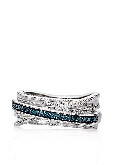 Belk & Co. Sterling Silver Blue & White Diamond Band