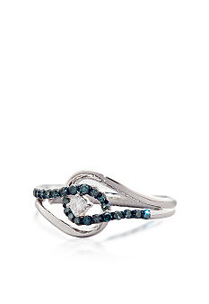Belk & Co. 1/4 ct. t.w. Blue & White Diamond Ring in Sterling Silver