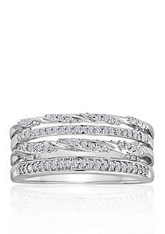 Belk & Co. Diamond Stacked Ring in Sterling Silver