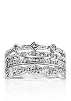 Belk & Co. Diamond Stack Ring in Sterling Silver