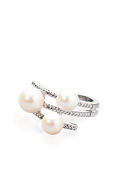Belk & Co. Sterling Silver Fresh Water Pearl and Diamond Ring