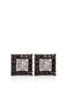 Belk & Co. Black & White Diamond Earrings
