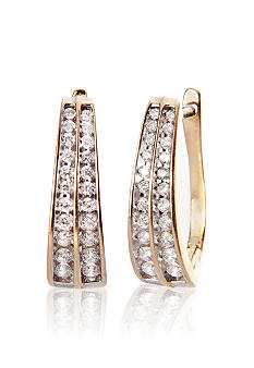 Belk & Co. Two Row Diamond Earrings
