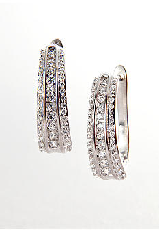 Belk & Co. Diamond Hoop Earrings