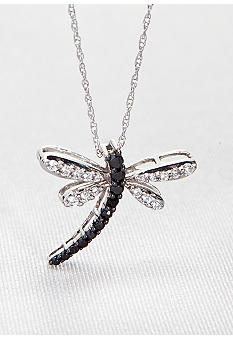 Belk & Co. Diamond Dragonfly Pendant