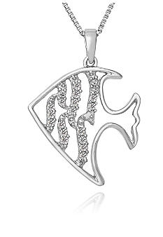 Belk & Co. Diamond Fish Pendant in Sterling Silver