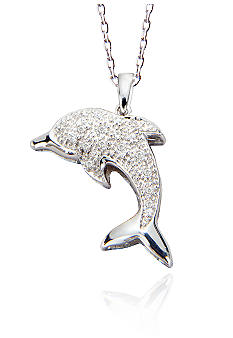 Belk & Co. Diamond Dolphin Pendant in Sterling Silver