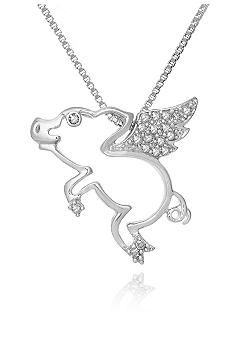 Belk & Co. Diamond Flying Pig Pendant in Sterling Silver