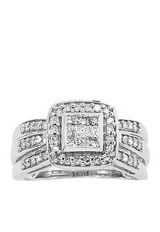 Belk & Co. Diamond Square Ring