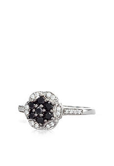 Belk & Co. Black & White Diamond Cluster Ring