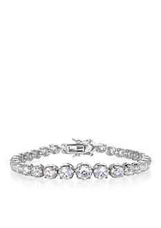 Belk & Co. Platinum Plated Sterling Silver Cubic Zirconia Tennis Bracelet