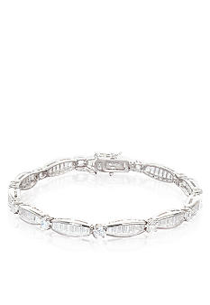 Belk & Co. Platinum Plated Sterling Silver Cubic Zirconia Bracelet<br>
