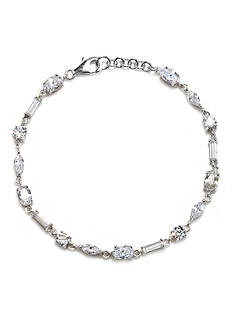 Belk & Co. Platinum Plated Sterling Silver Cubic Zirconia Bracelet