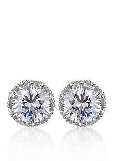Belk & Co. Platinum-Plated Sterling Silver Cubic Zirconia Stud Earrings