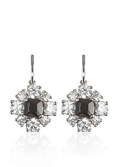 Belk & Co. Platinum-Plated Sterling Silver Black Onyx and Cubic Zirconia Earrings