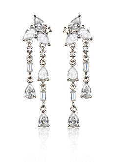 Belk & Co. Platinum-Plated Sterling Silver Cubic Zirconia Earrings