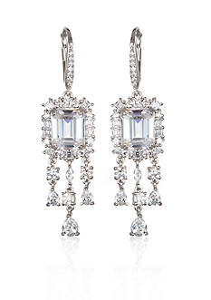 Belk & Co. Platinum Plated Sterling Siver Cubic Zirconia Earrings