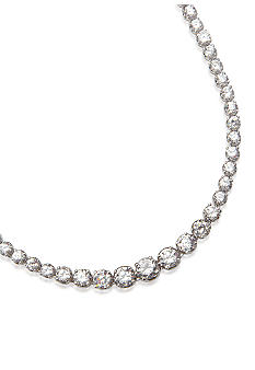Belk & Co. Platinum Plated Sterling Silver Cubic Zirconia Tennis Necklace