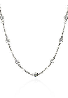 Belk & Co. Platinum Plated Sterling Silver Cubic Zirconia 36