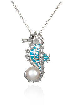 Belk & Co. Platinum Plated Sterling Silver Seahorse Pendant