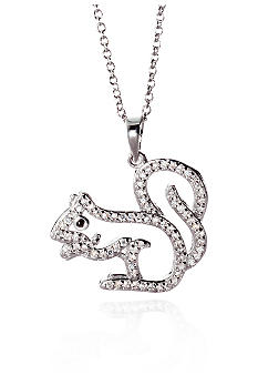Belk & Co. Platinum Plated Sterling Silver Cubic Zirconia Mini Squirrel Pendant