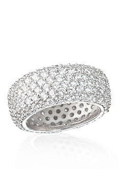 Belk & Co. Sterling Silver Platinum Plated Cubic Zirconia Band
