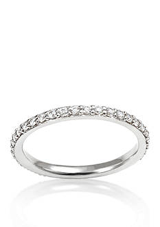 Belk & Co. Sterling Silver Platinum-Plated Cubic Zirconia Band