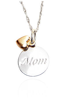 Belk & Co. Mom Pendant with Dangle Heart