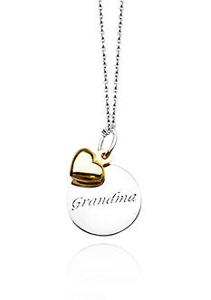 Belk & Co. Sterling Silver with 14k Yellow Gold Grandma Pendant