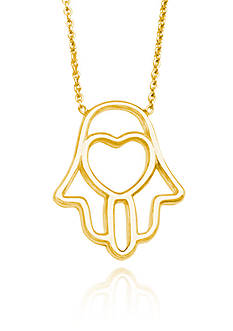 Belk & Co. 14k Yellow Gold Heart Hamsa Necklace