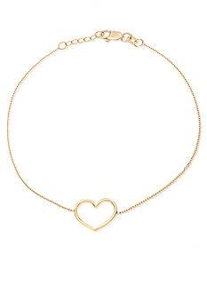 Belk & Co. 14k Yellow Gold Heart Bracelet