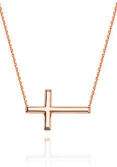 Belk & Co. 14k Rose Gold Sideways Cross Necklace