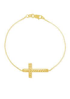 Belk & Co. 14k Yellow Gold Reversible Cross Bracelet